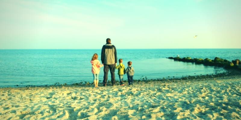 Moritz mit seinen Kindern